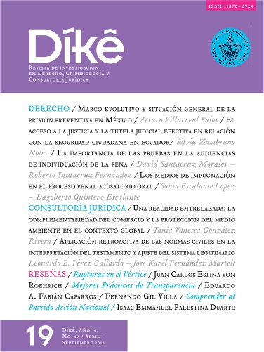 DÍKÊ, Revista de Investigación en Derecho, Criminología y Consultoría Jurídica