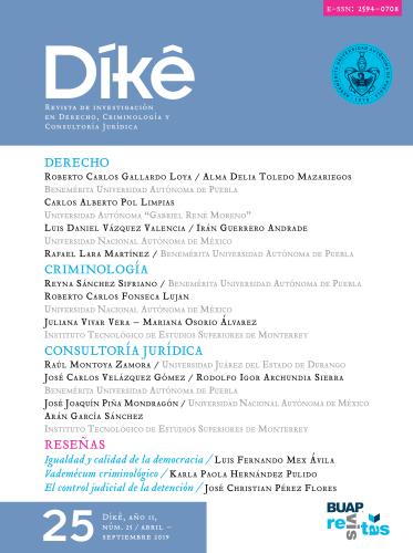 DÍKÊ. Revista de Investigación en Derecho, Criminología y Consultoría Jurídica